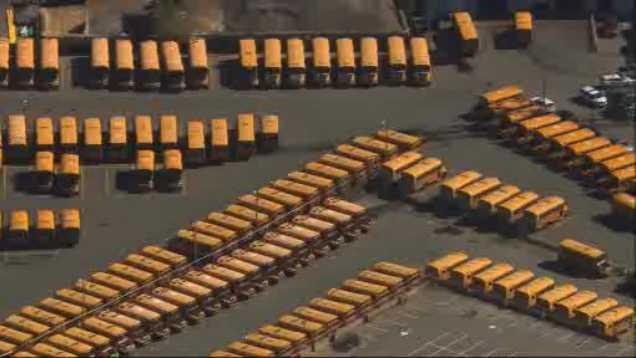 School buses yard generic