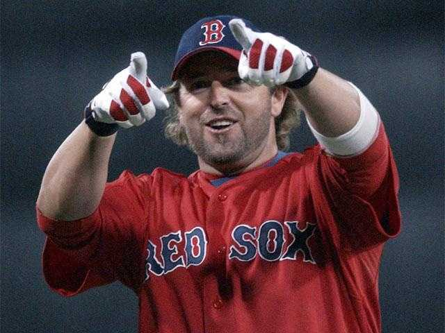 Kevin Millar hit the 10,000th home run at Fenway Park on Aug. 10, 2003.