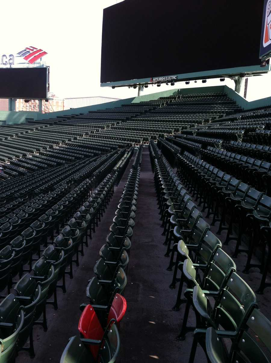 Ted Williams was the first player to ever hit a 500-foot home run at Fenway. A red seat marks the spot where it hit in the right field grandstands. It's still the longest one ever hit at Fenway Park.