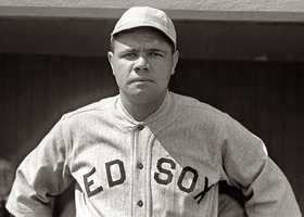 """Babe Ruth was the first player to drive a home run over the """"new"""" left field wall in 1934."""