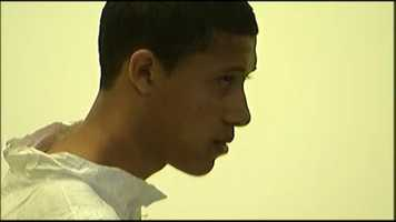 He was charged with murder and held without bail at his arraignment.