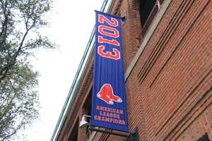 The Boston Red Sox host the St. Louis Cardinals - and the team hopes this championship banner will soon become a World Series banner.
