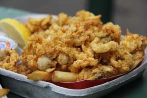 The stadium also expects to serves around 400 pounds of shrimp.