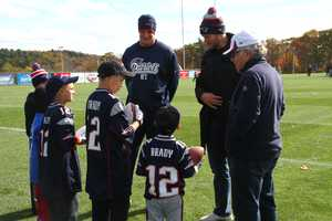 Wish recipients Benjamin Keith, 14, of Middleborough, and Richard Cookson, 10, of Revere, were two of the six children chosen for the meet and greet at Gillette Stadium in Foxborough.