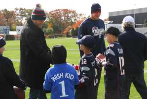 Two local residents had the opportunity to meet members of the New England Patriots on Saturday, all thanks to Make-A-Wish Massachusetts and Rhode Island.