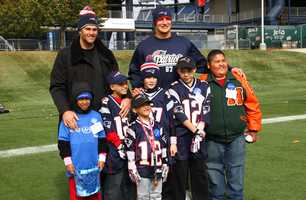 The kids even got to take pictures with Brady and Gronk!