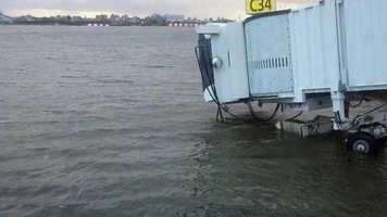 Even air travel was severely impacted. Water from Long Island Sound flooded LaGuardia Airport in New York City.