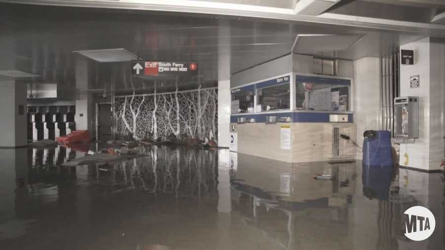 However, water flooded nearly every subway tunnel underneath the East River and Hudson River.