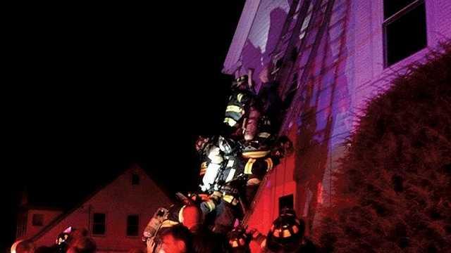 Newton firefighters battle 2 blazes