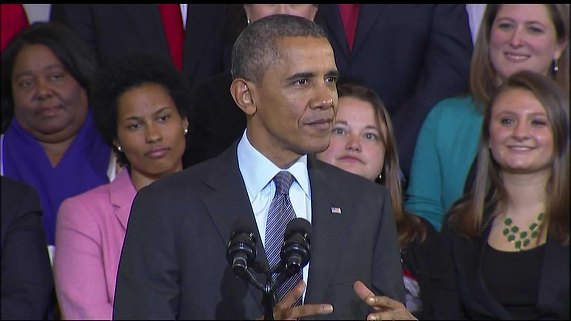 President Obama Boston 103013