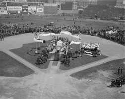 Fenway Park in 1918 was used for outdoor Catholic Masses.
