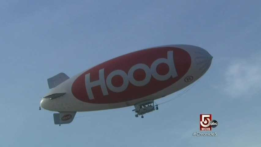 Modern versions, like the Hood blimp, use compressed helium for lift, replacing the much more volatile hydrogen.