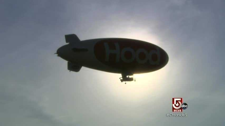 Contrary to popular belief, Hood does not own the blimp. It's chartered for summer visits to New England.