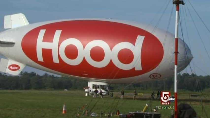 "The flight returns to Beverly Airport, where the blimp lands and is ""caught"" by the ground crew."