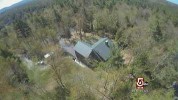 Perspective buyers got a birds eye view of the property for sale.