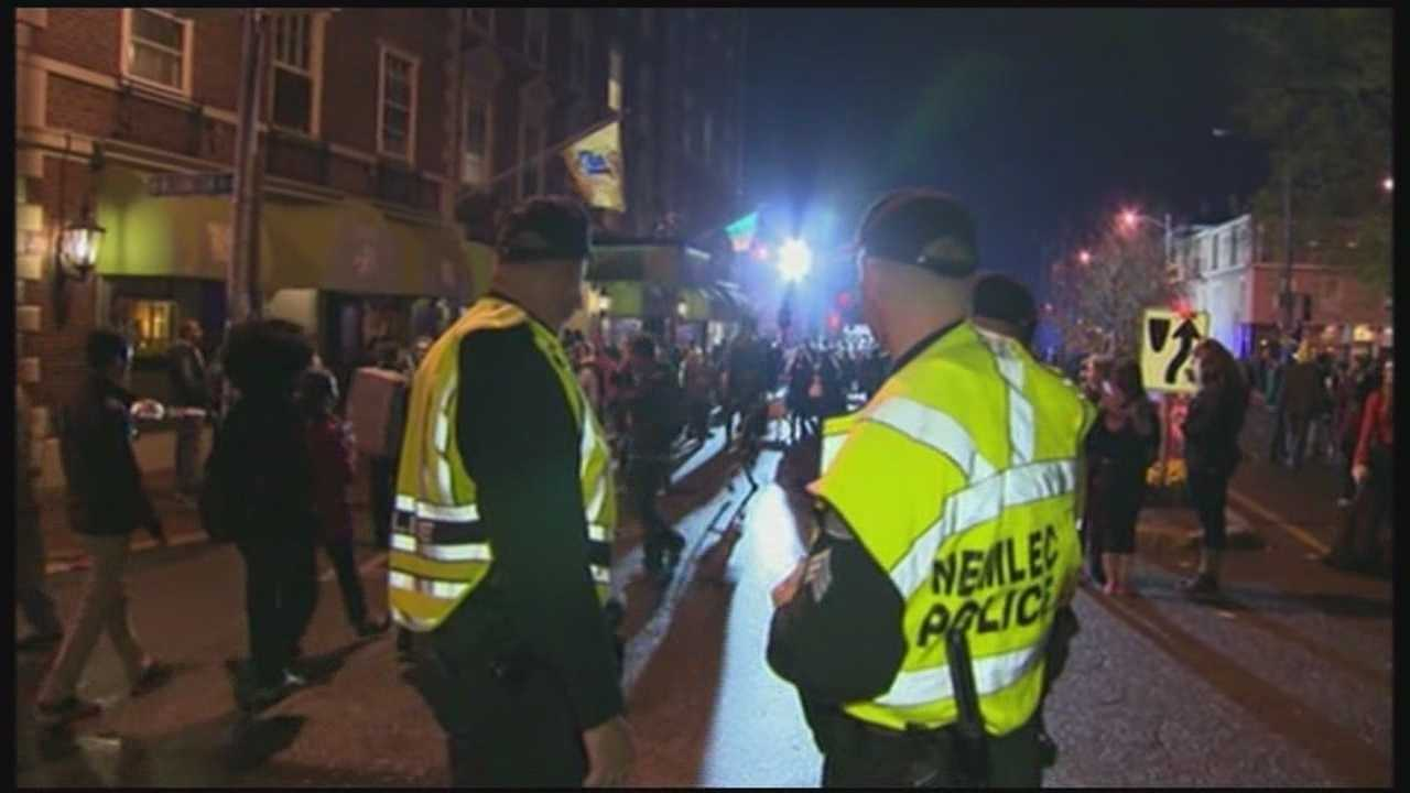 Law enforcement officials kept a close eye on Halloween revelers in Salem.