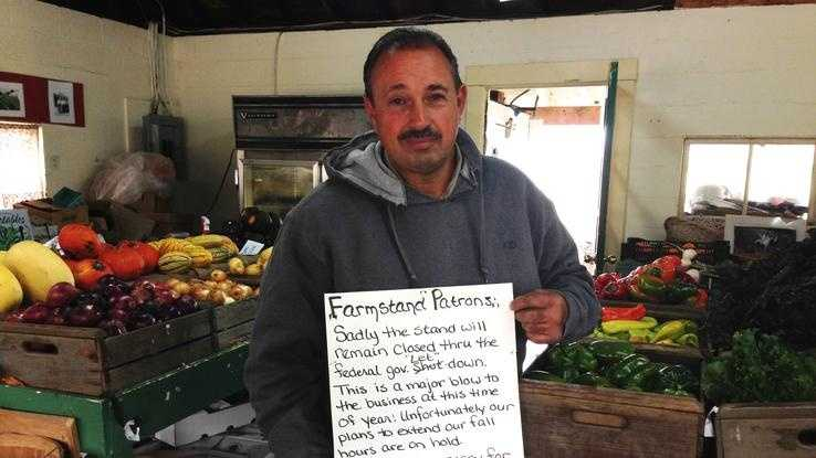 Concord farmer Fran Busa is trying to get his farm stand back on track after it was forced to close during the government shutdown earlier this month.