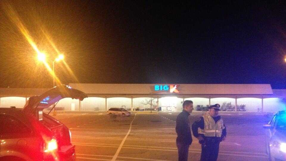 Milford Police investigate a bomb threat at Kmart on Friday, Nov. 1, 2013