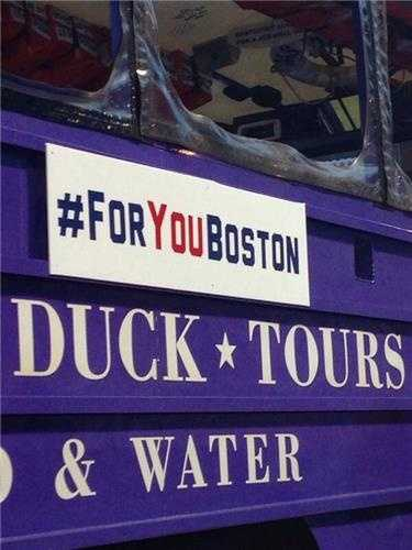 #ForYouBoston is on the boats.