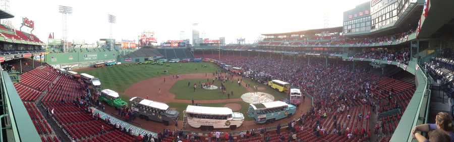 Fans gathered at Fenway