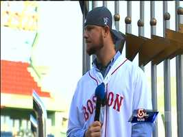"""""""From Day 1 of Spring Training it's been fun to be around these guys,"""" Jon Lester said."""