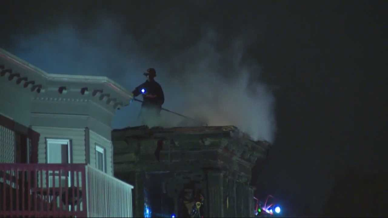 Boston firefighters were injured fighting a fire on Colonial Avenue in Dorchester.