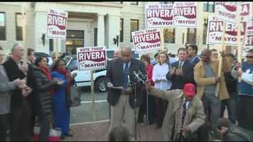 Dan Rivera claims victory over Lawrence Mayor William Lantigua in that city's mayoral race.