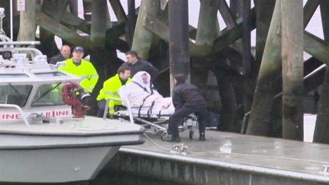 Officials said the swimmer was suffering from hypothermia.
