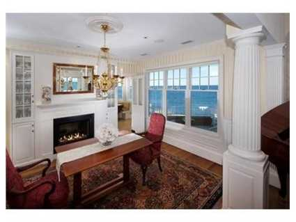 The home has five fireplaces.