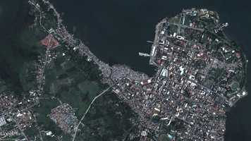 Newly released satellite imagery of the Philippines shows the devastation caused by Typhoon Yolanda.