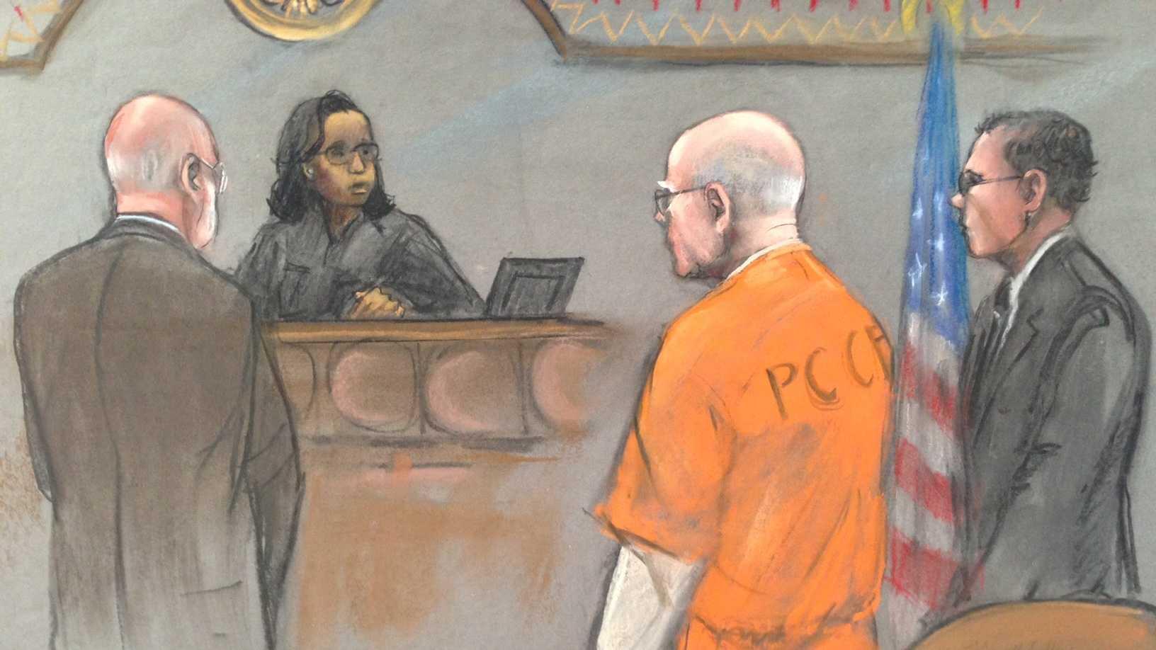 Bulger sentencing sketch