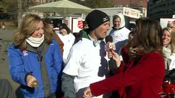 WCVB's Danielle Vollmar and former WCVB meteorologist David Brown helped kick off the event!