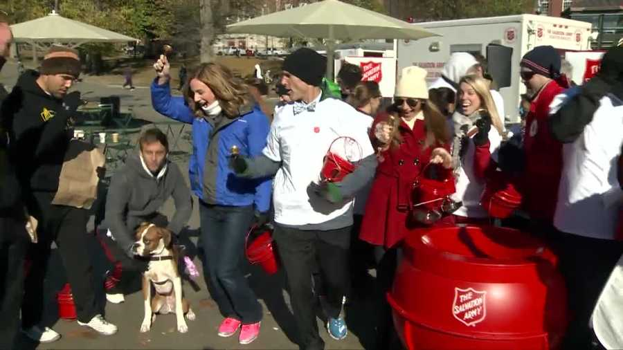 The event -- the first of its kind in Massachusetts -- featured teams of three individuals who took the Red Kettles on the move through the streets of downtown Boston to raise funds for The Salvation Army.