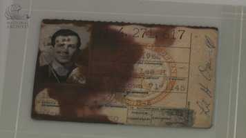 Lee Harvey Oswald's Marine Corps identification card.