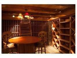 A2,500 bottle wine cellar.