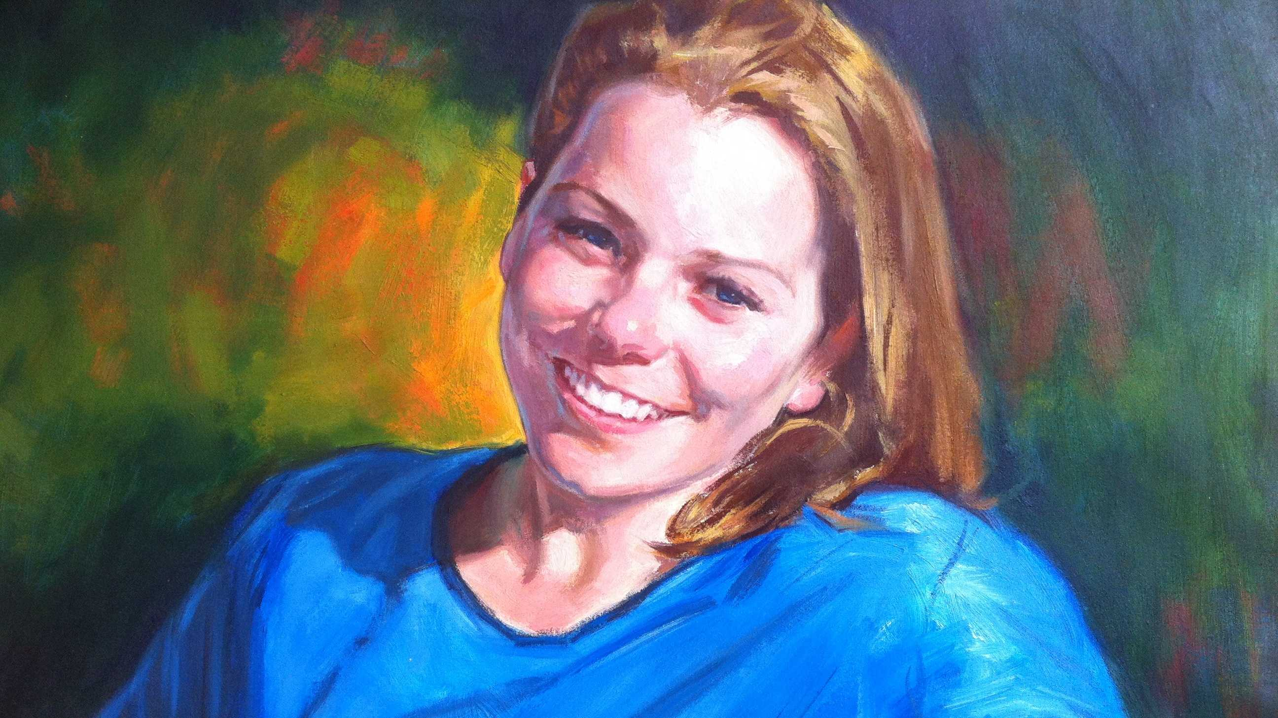 This portrait of Krystle Campbell was unveiled last week at University of Massachusetts-Boston.