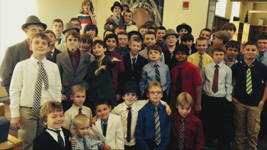 A suited band of brothers in Bridgewater who stood up for Danny Keefe, a 6-year-old who was getting picked on because of the way he spoke, made national headlines on Nov. 20.