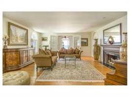 An elegant formal living room.
