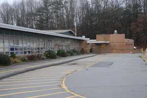 The front of Sandy Hook Elementary School