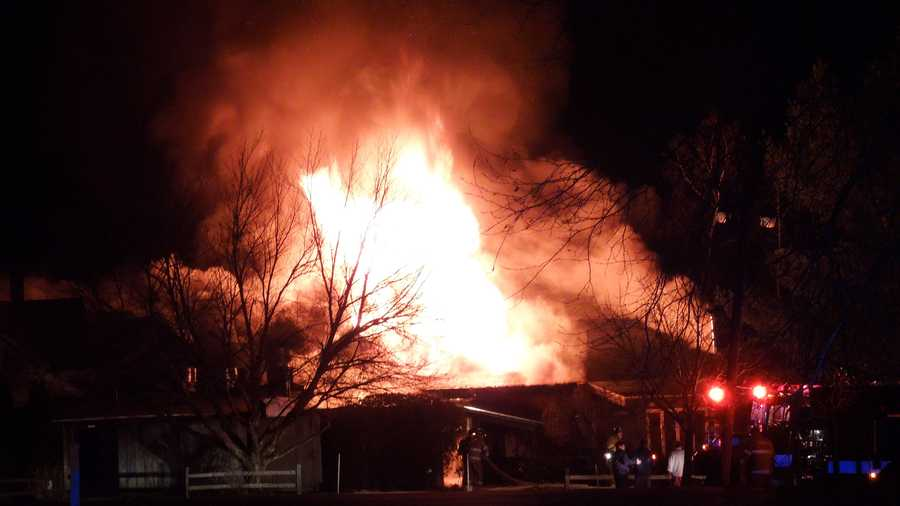 Firefighters were called to the Woodshed Restaurant around 10 p.m. Thursday.