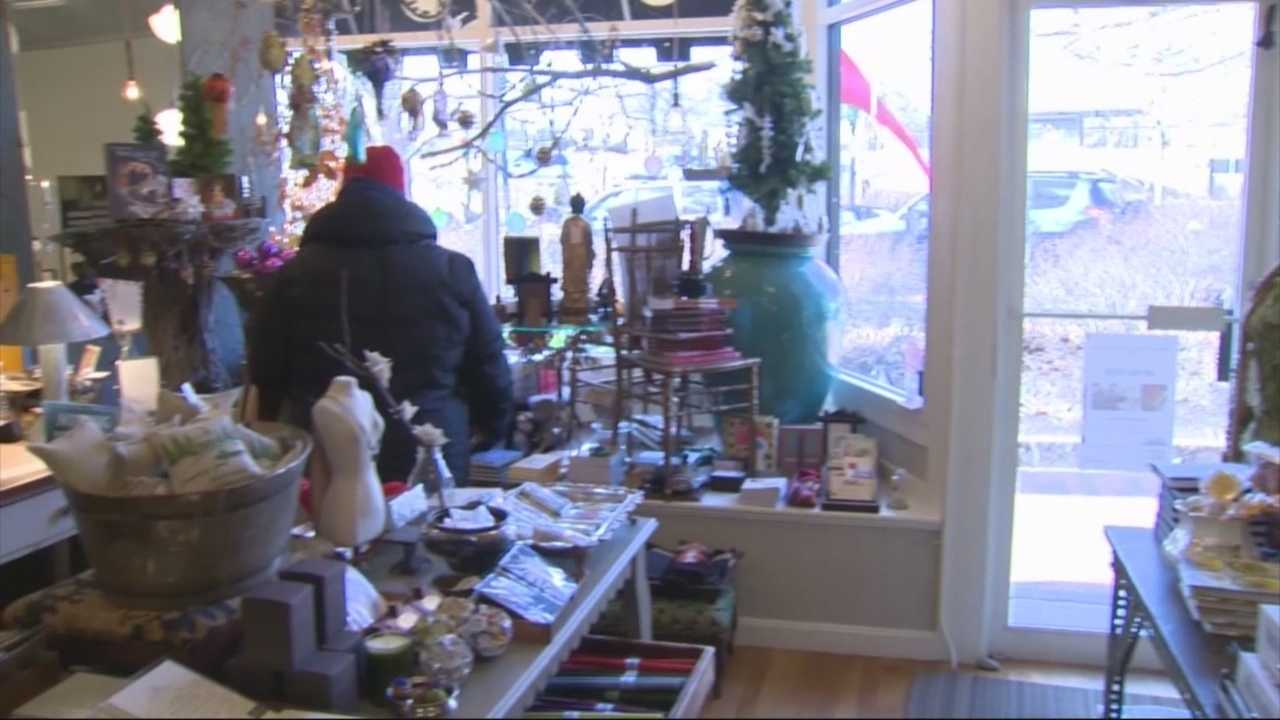 Boston Mayor Tom Menino visited Roslindale Village Saturday afternoon for its annual tree lighting event and to celebrate Small Business Saturday.
