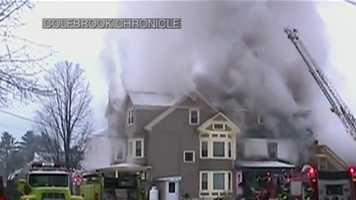 Crews battled a fire Dec. 2, 2013, at the West Stewartstown home where Celina lived when she disappeared in 2011.