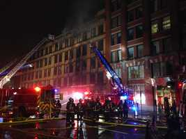 The fire started at about 4:30 a.m. in a commercial building on Summer Street.