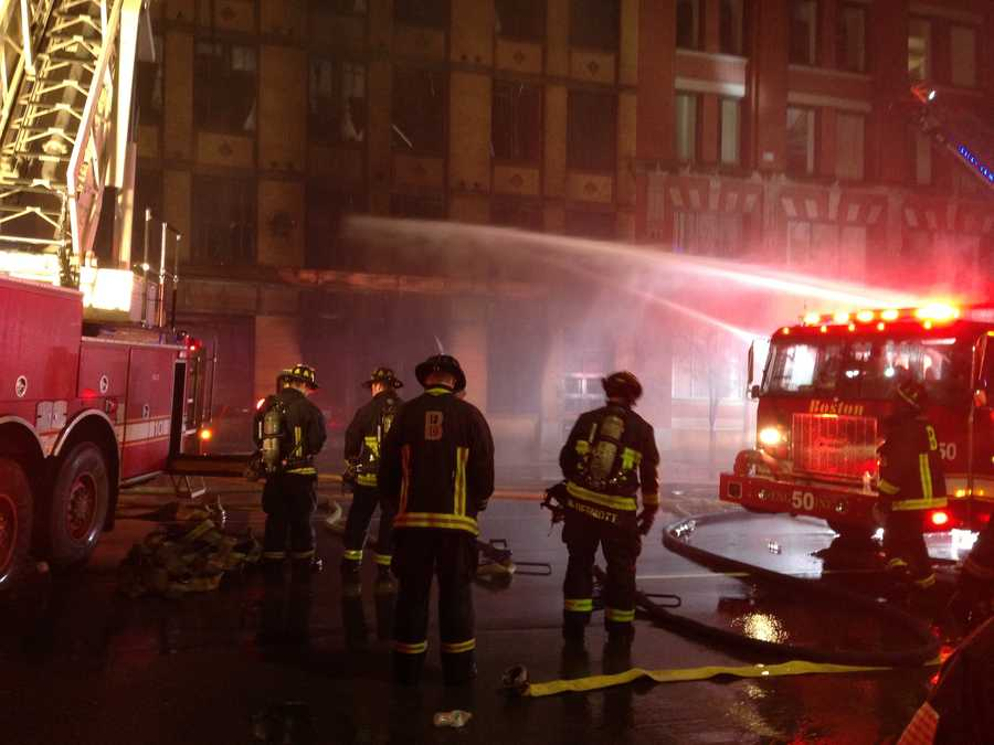Crews were ordered out of the building.