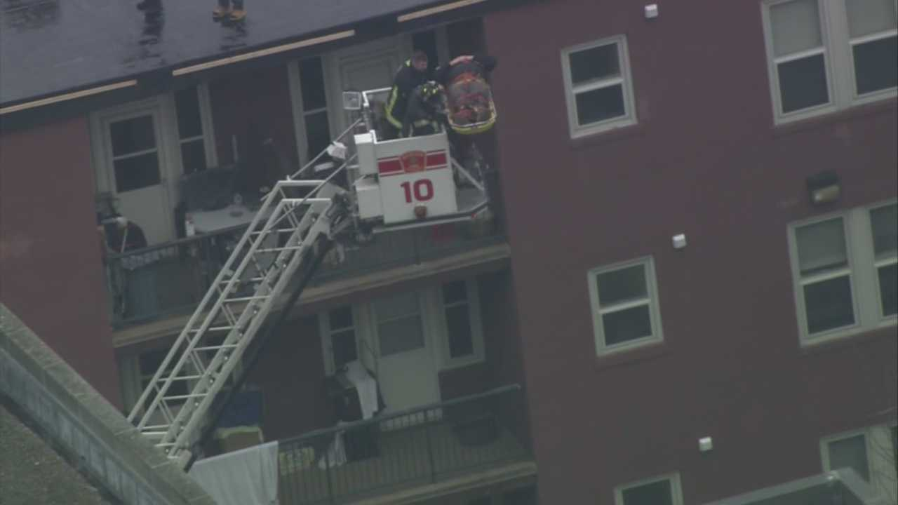 Rescue on Dorchester roof
