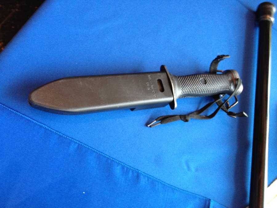 A knife confiscated by the TSA at Logan