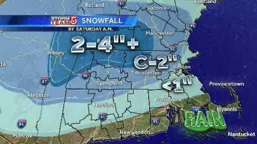 Snowfall map 120613 am