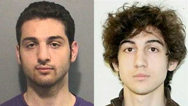 Brothers Tamerlan and Dzhokhar Tsarnaev were identified by the FBI as theBoston Marathon bombing suspects.During the confrontation with police on in Watertown on April 19, Tamerlan was killed and Dzhokhar escaped.