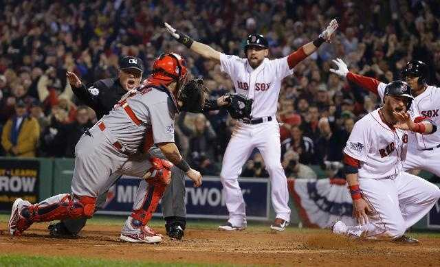 The Boston Red Sox beat the St. Louis Cardinals on Oct. 30 to win the 2013 World Series. It was the team's third championship in 10 years.