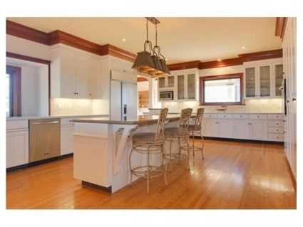 The large kitchen.